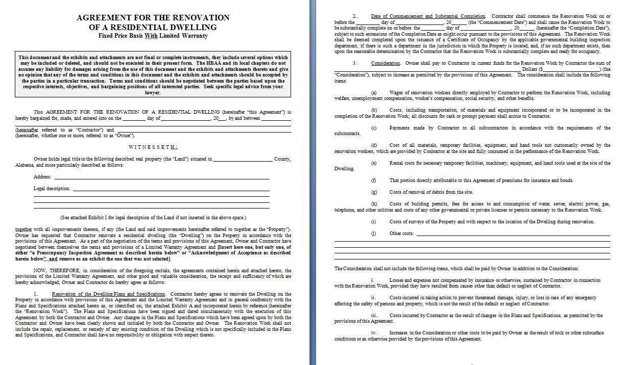 Free Simple Building Contract Template