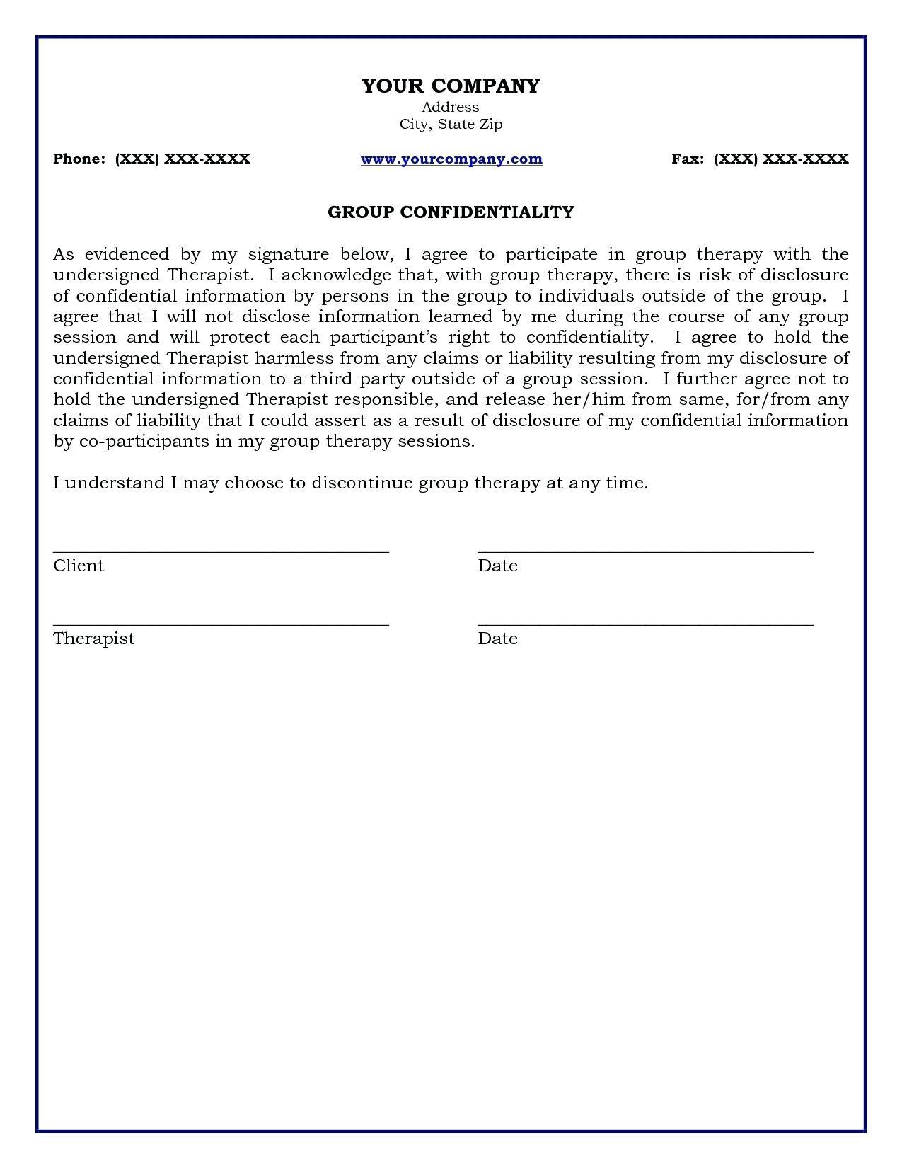 Free Simple Confidentiality Agreement Template