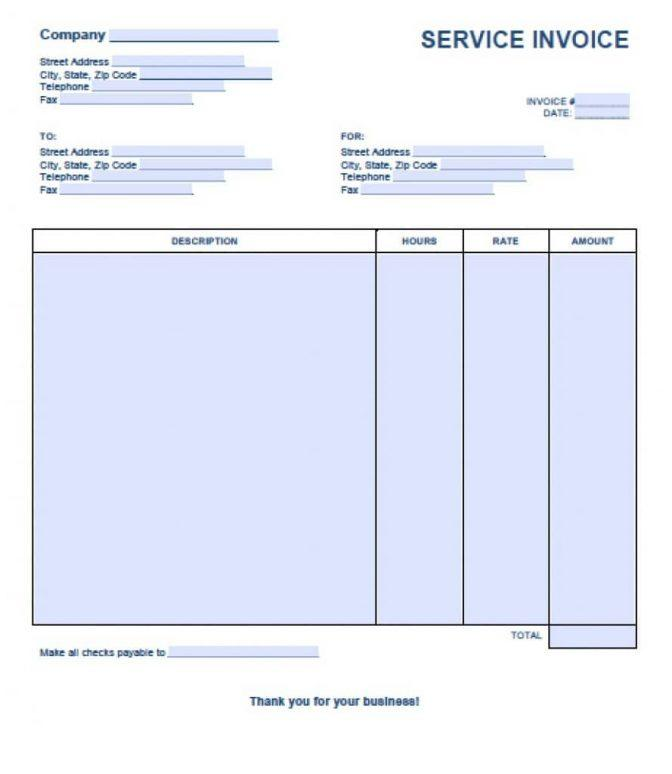 Free Simple Invoice Template For Mac
