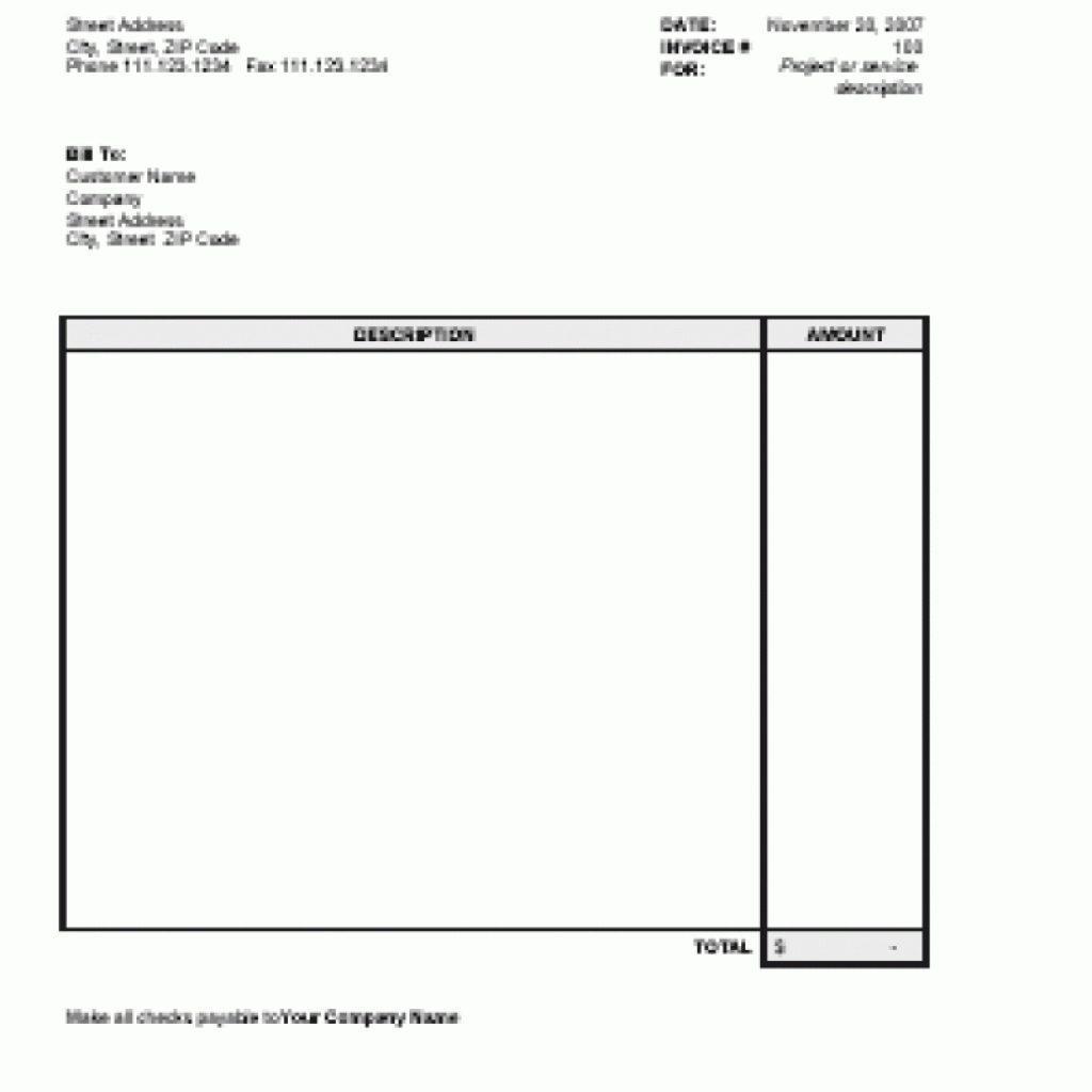 Free Simple Invoice Template Uk