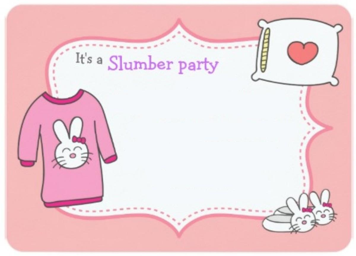 Free Slumber Party Invitation Templates
