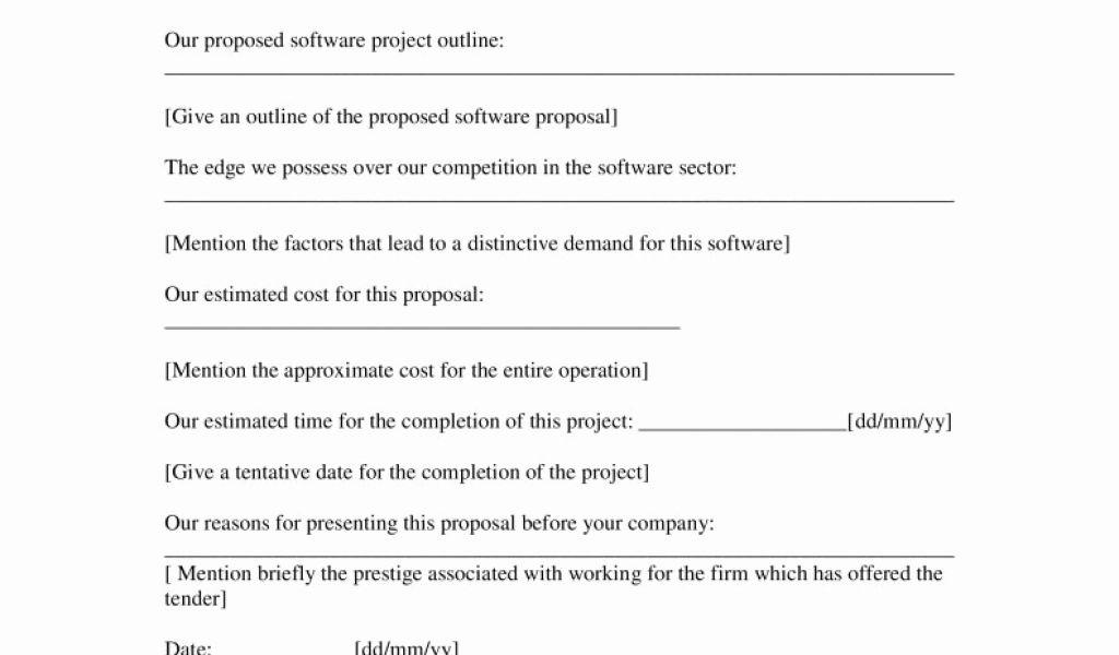 Free Software Proposal Template Word