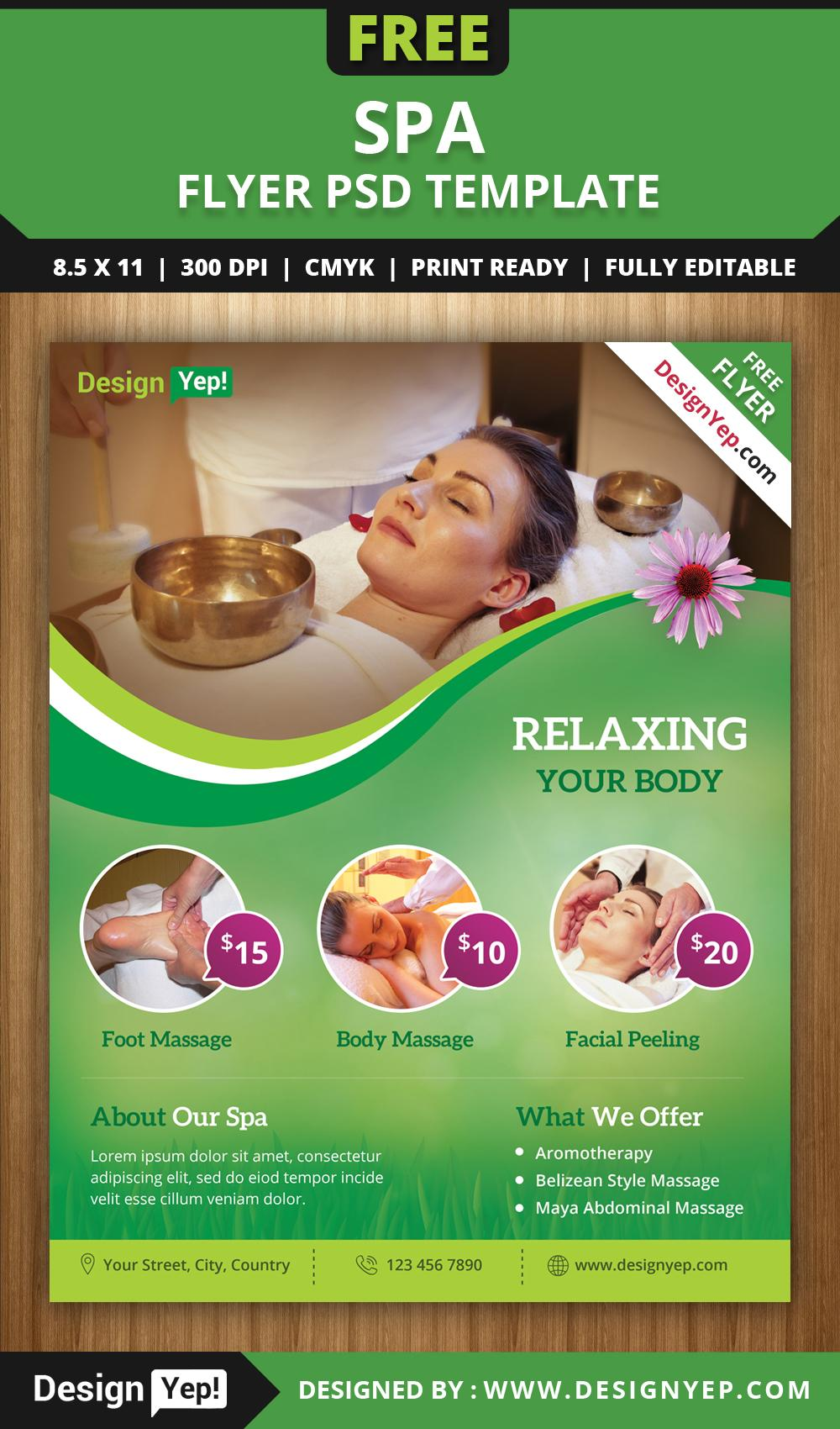 Free Spa Flyer Template Download