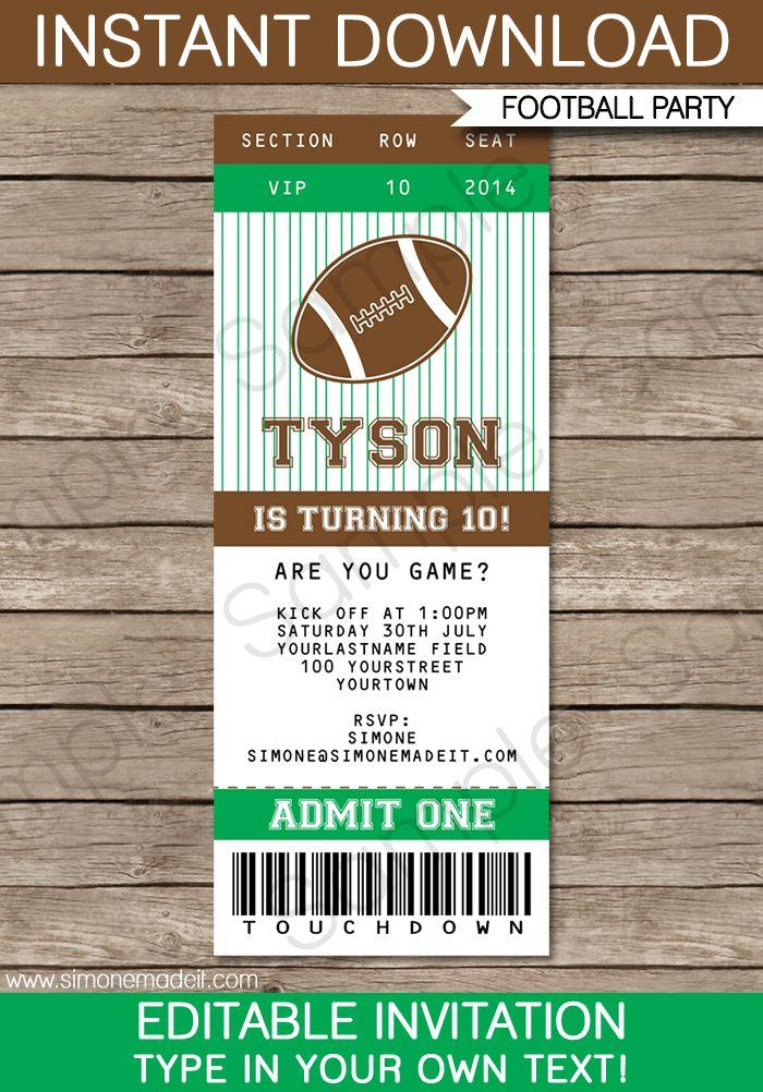 Free Sports Ticket Template