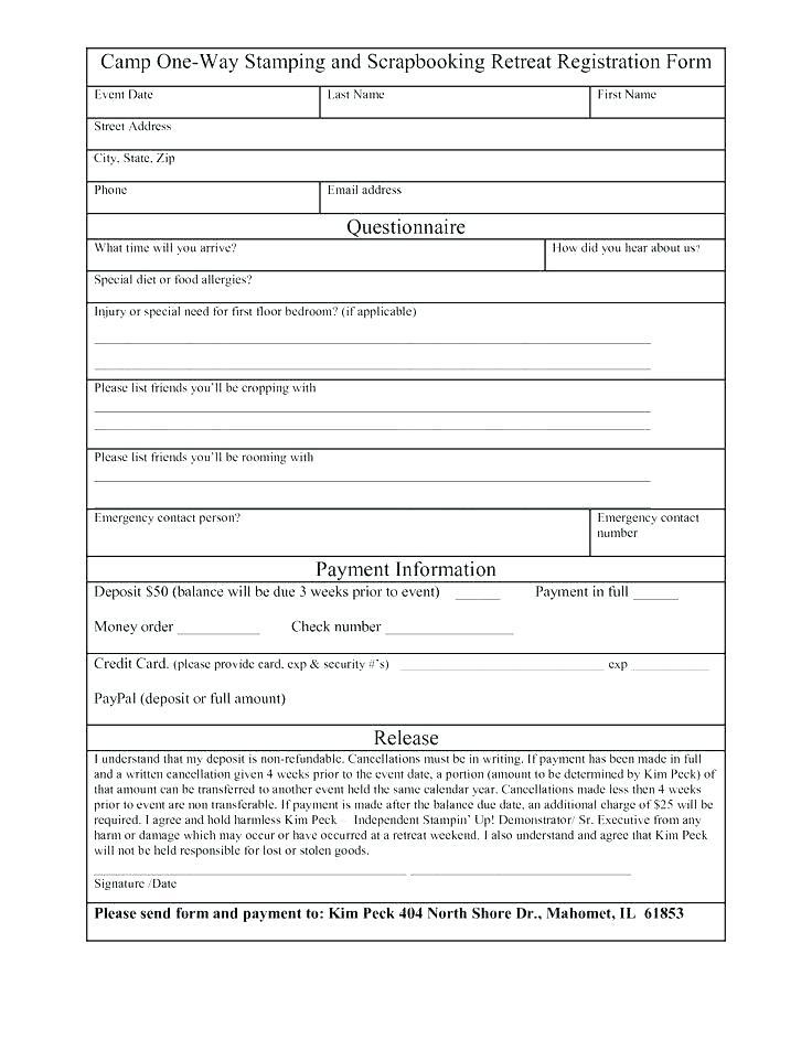 Free Student Registration Form Template Word