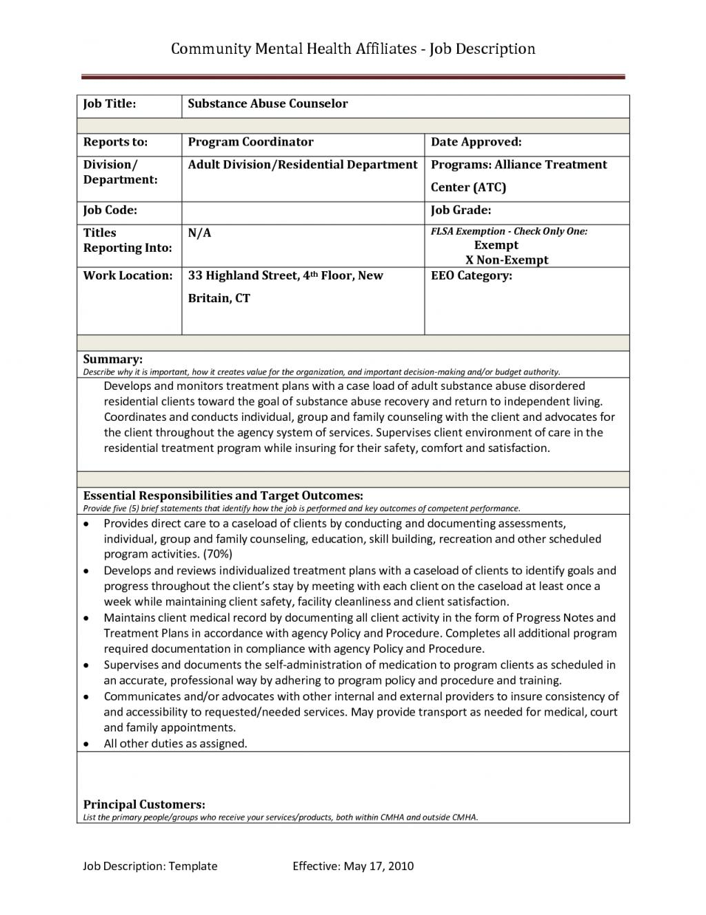 Free Substance Abuse Treatment Plan Template