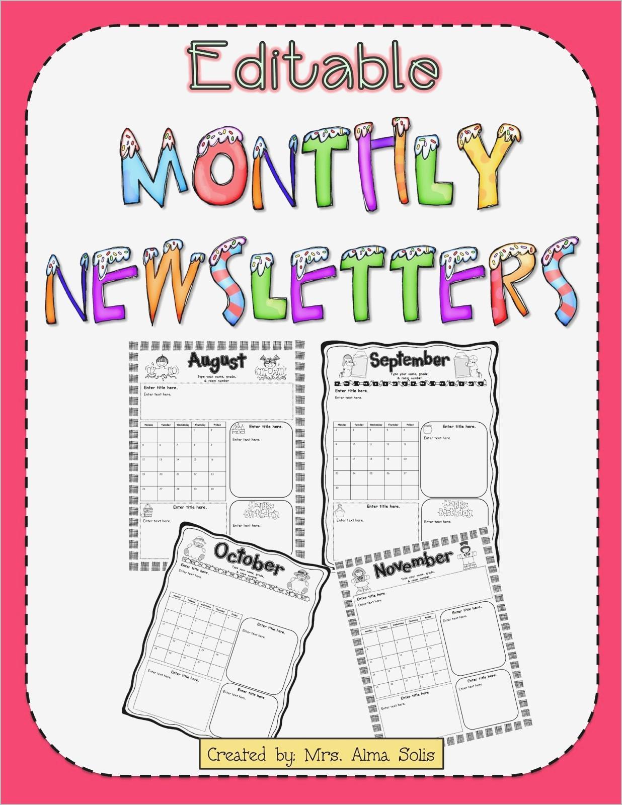 Free Teacher Classroom Newsletter Templates