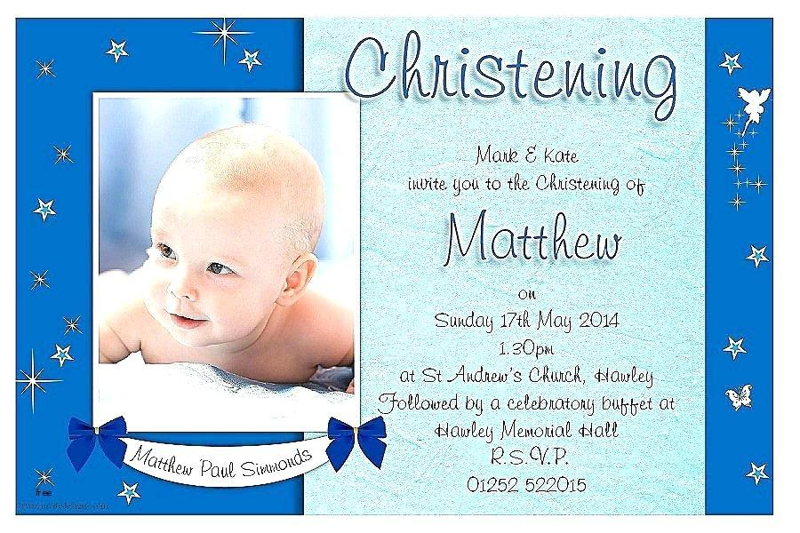 Free Template For Baptism Invitation Card