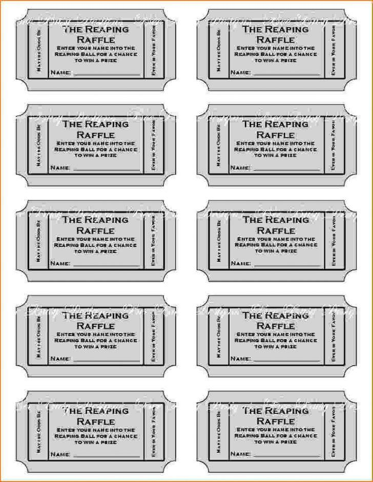 Free Template For Diaper Raffle Tickets