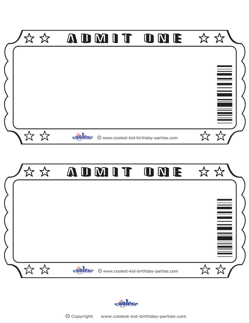 Free Template For Event Tickets With Numbers