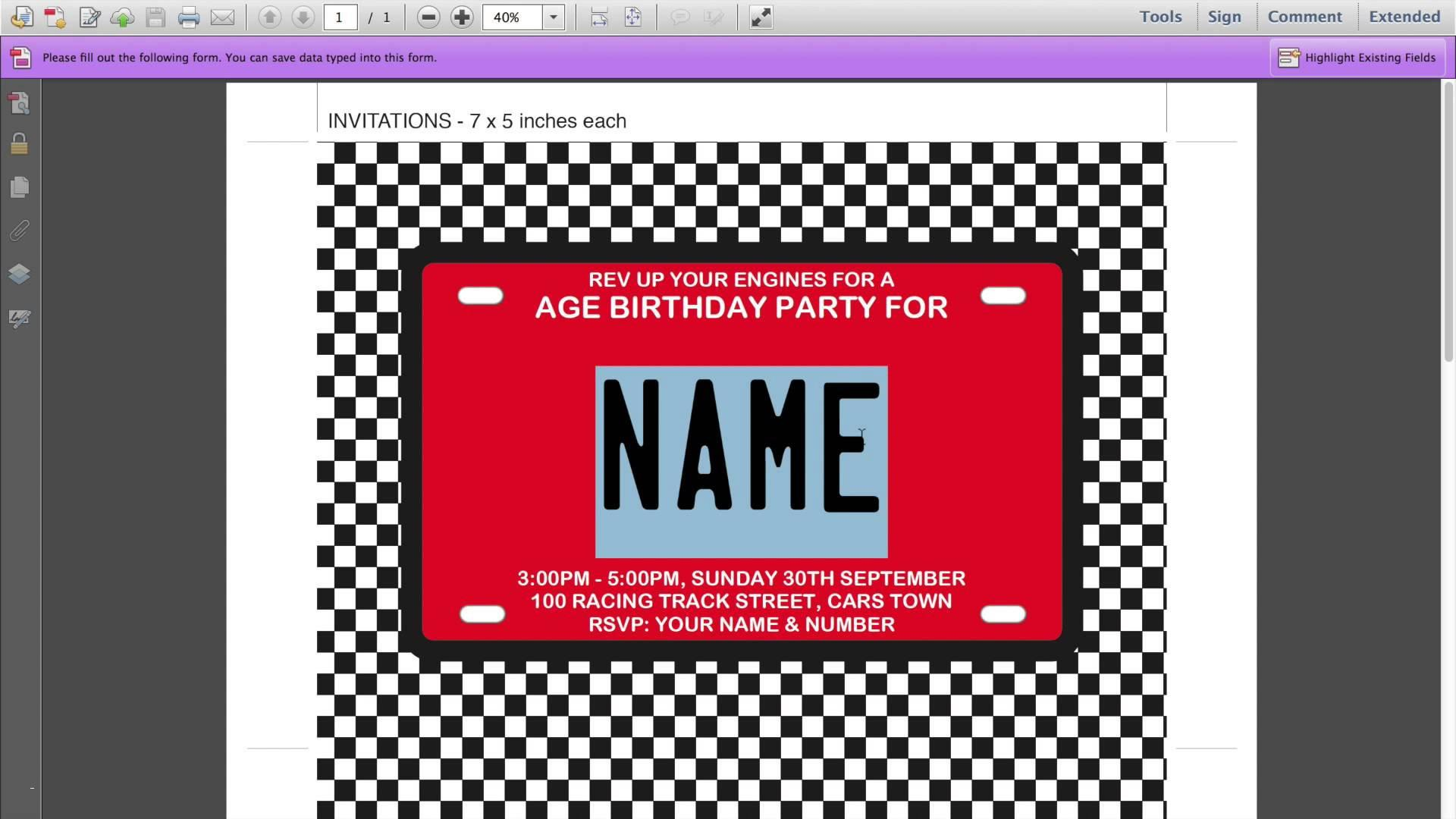 Free Template For Frozen Birthday Invitations