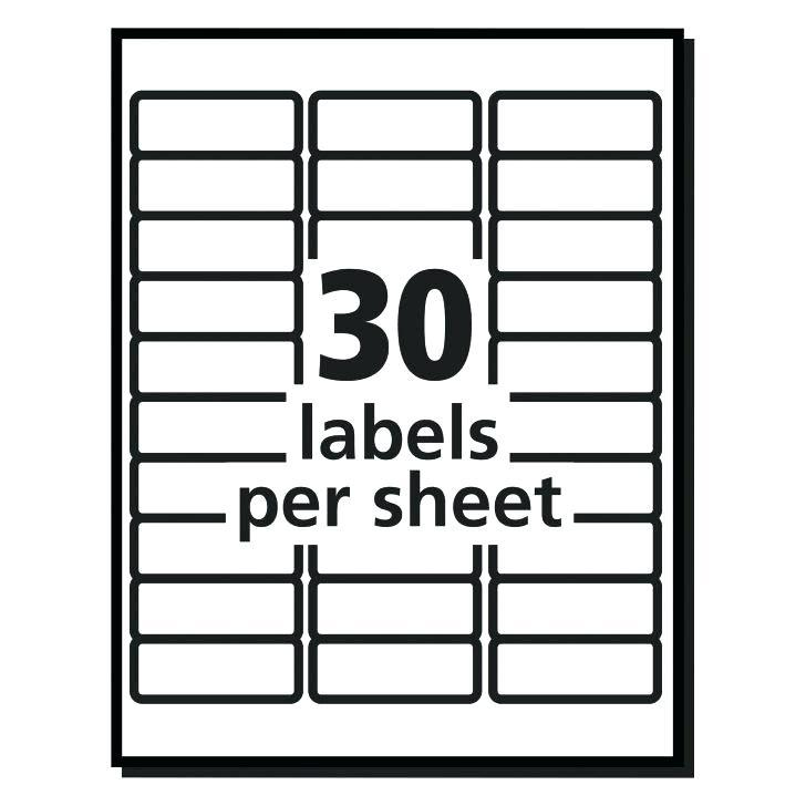 Free Template For Labels 60 Per Sheet