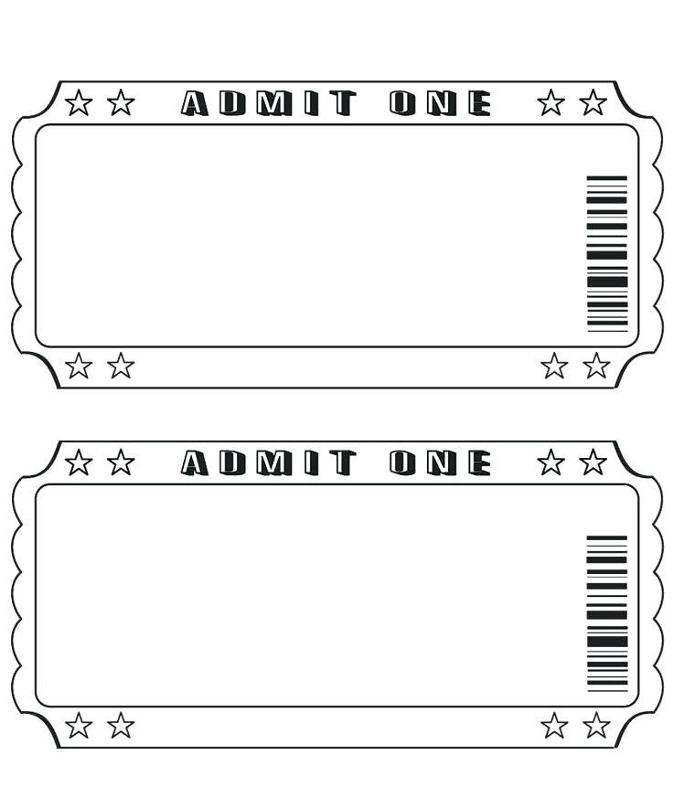 Free Template For Making Raffle Tickets