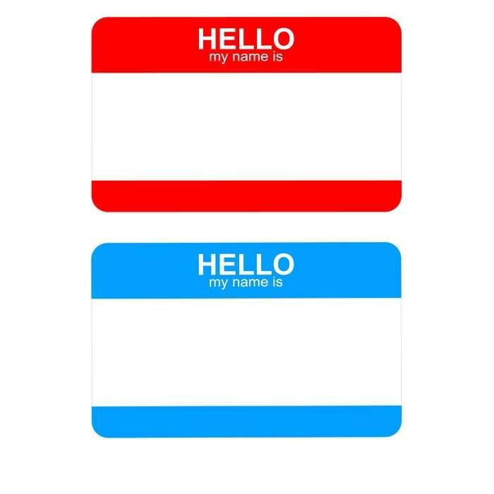 Free Template For Name Badges