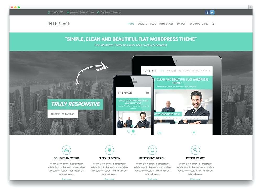 Free Template For WordPress Business