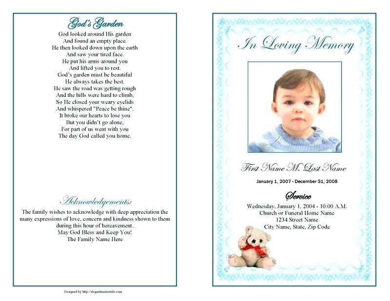 Free Templates For Funeral Programs