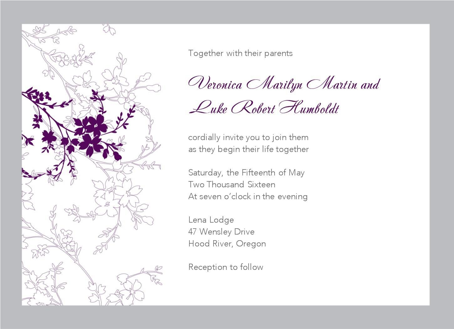 Free Templates For Word Invitations