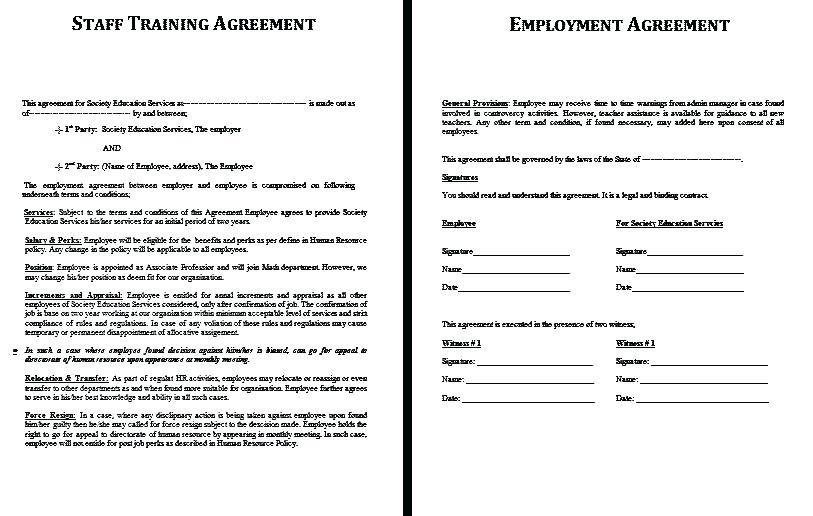 Free Temporary Employment Contract Template South Africa