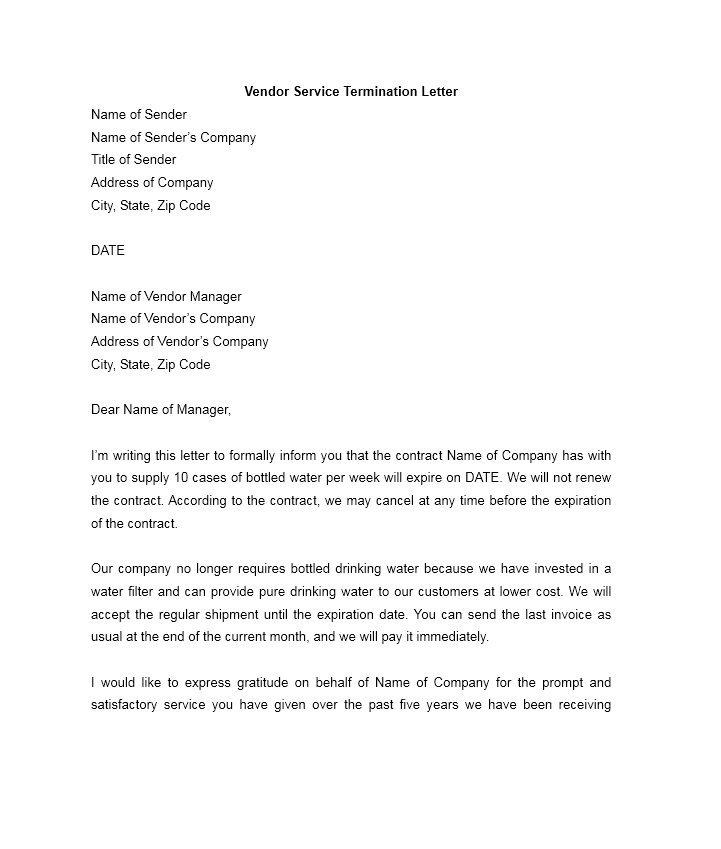Free Termination Letter Templates Employment