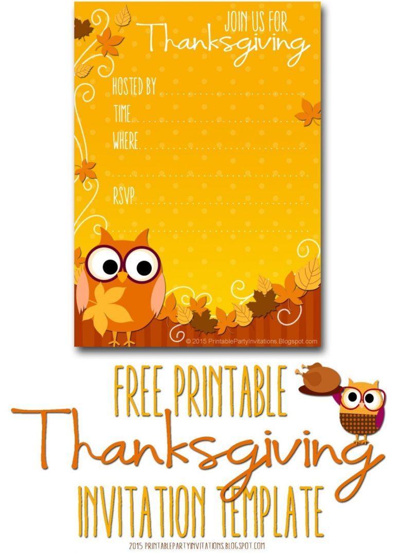 Free Thanksgiving Dinner Invitation Templates