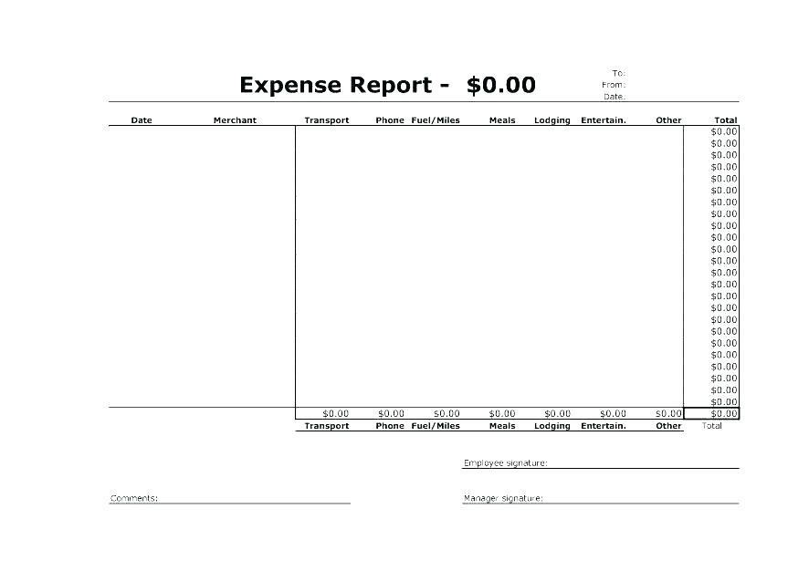 Free Travel Expense Claim Form Template