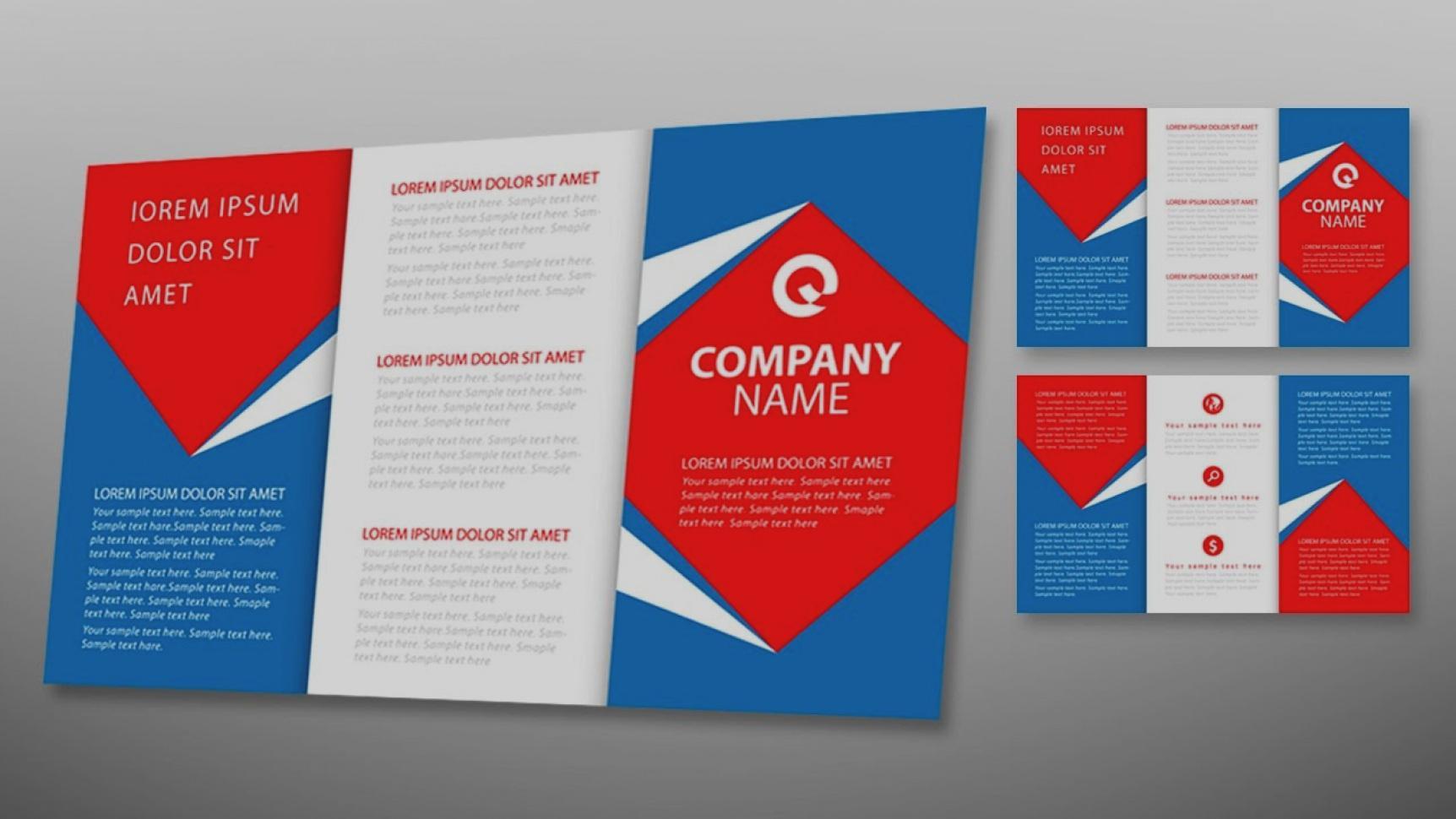 Free Tri Fold Brochure Template Adobe Illustrator