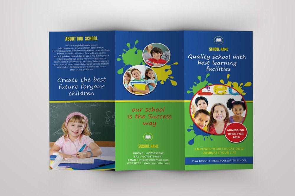 Free Tri Fold Brochure Template For School Project