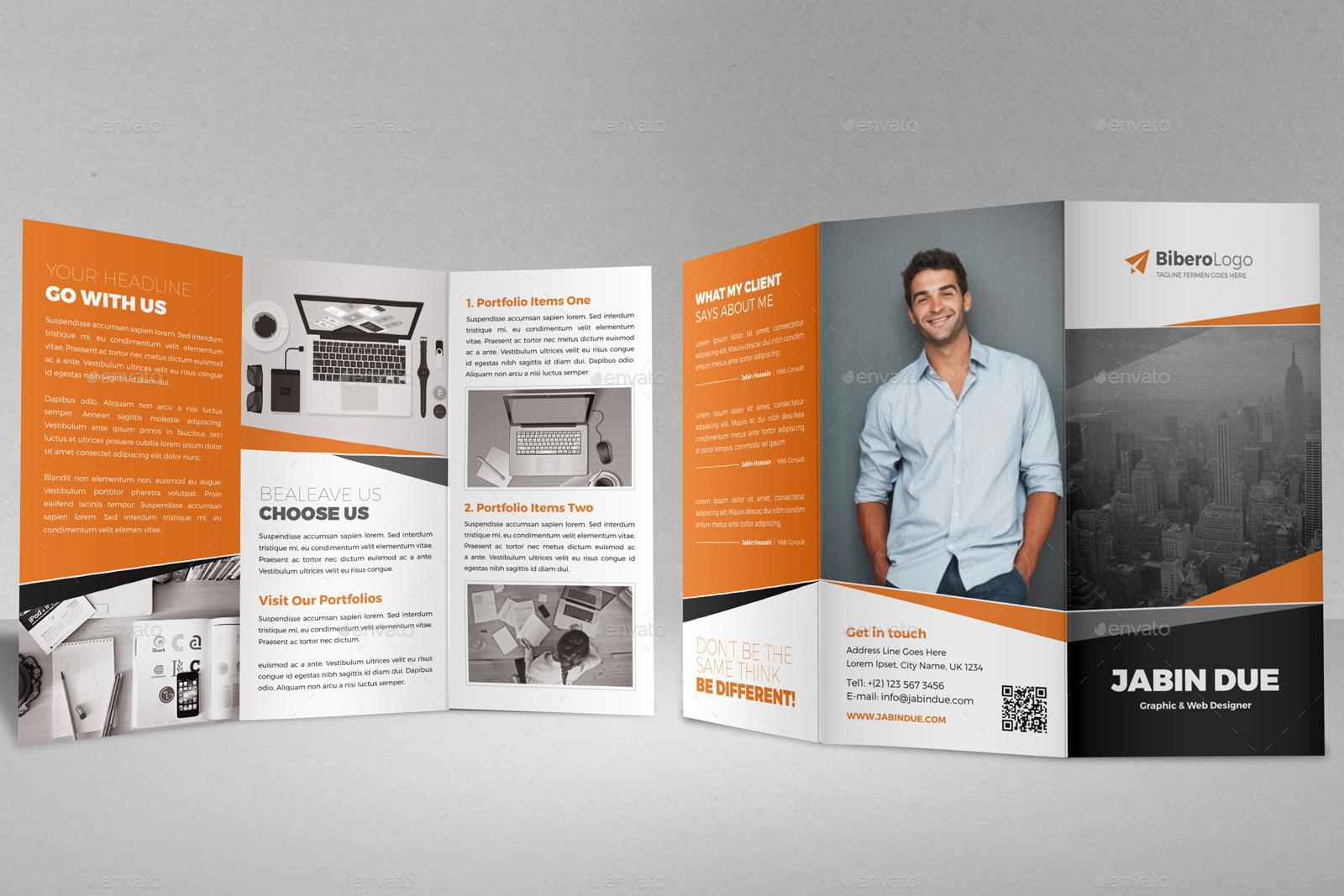 Free Tri Fold Brochure Templates Indesign