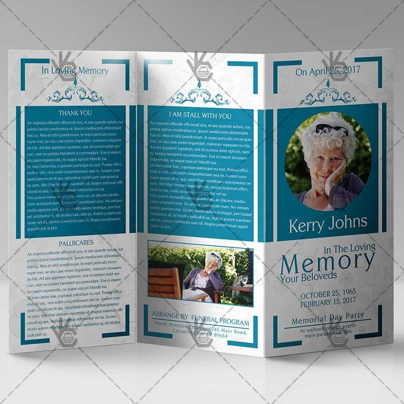 Free Tri Fold Funeral Brochure Template