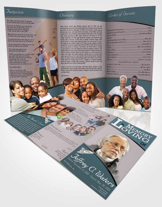 Free Tri Fold Obituary Templates Download