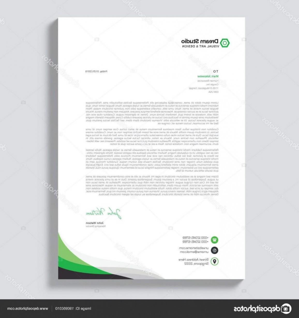 Free Vector Letterhead Templates Download