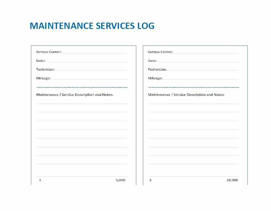 Free Vehicle Service Checklist Template