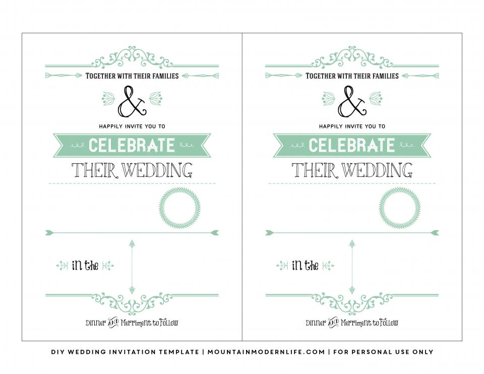 Free Vintage Wedding Invitation Templates For Word