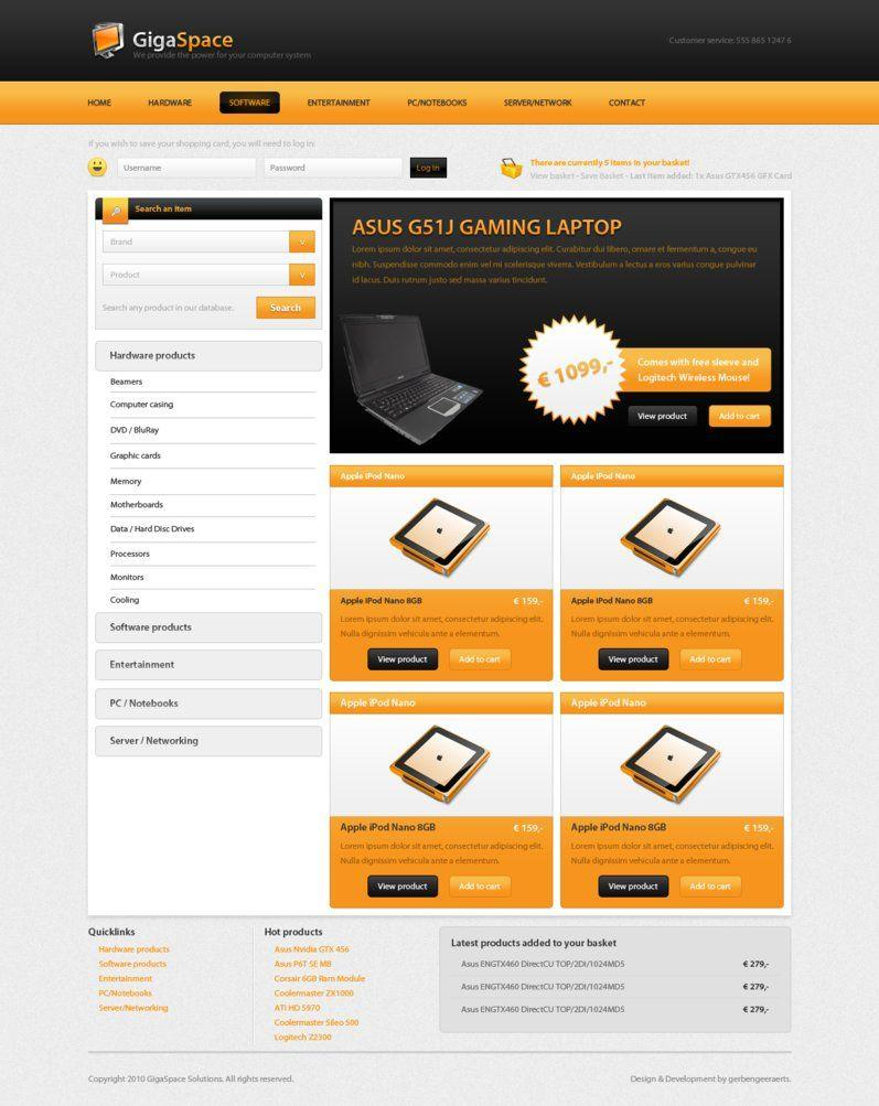 Free Webshop Website Templates