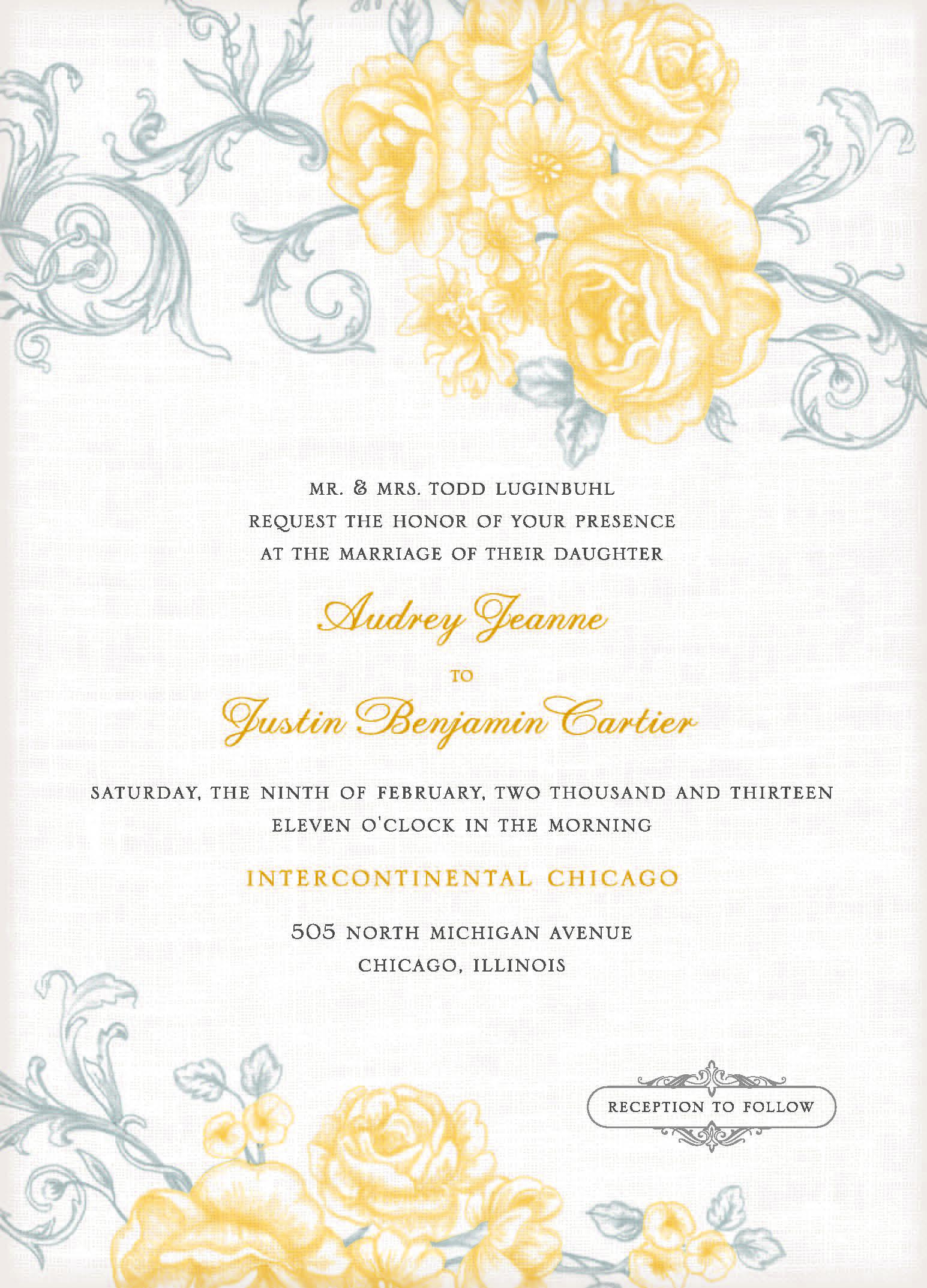 Free Wedding Invitation Templates For Word 2010