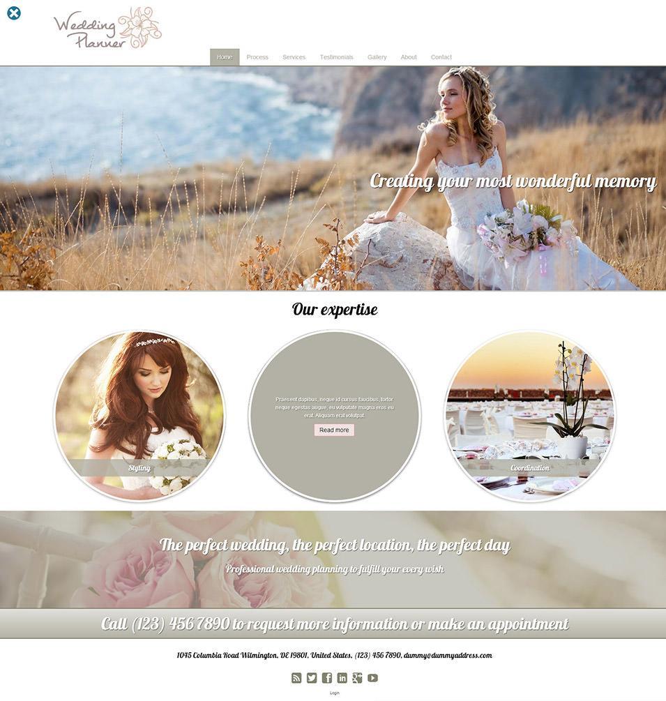 Free Wedding Planner Website Templates