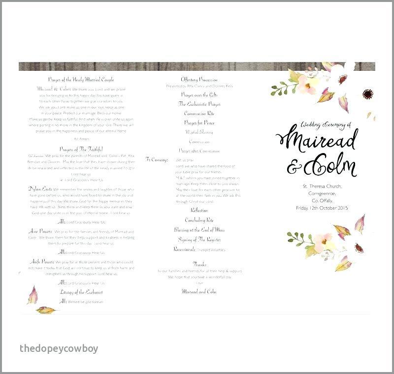 Free Wedding Program Booklet Templates