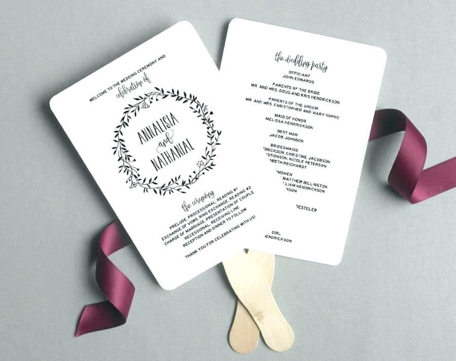 Free Wedding Program Paddle Fan Templates