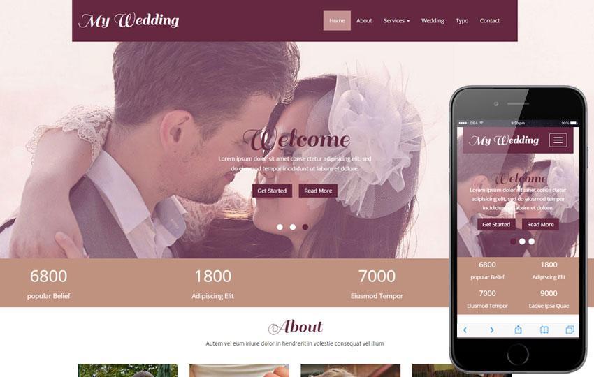 Free Wedding Website Design Templates