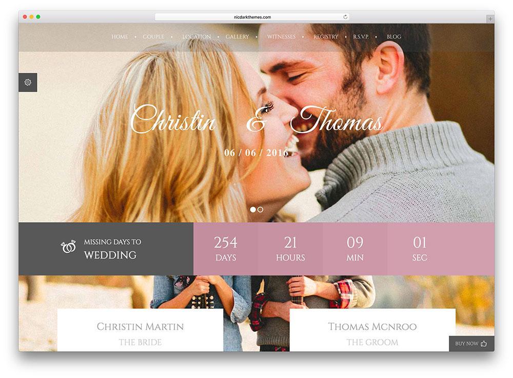 Free Wedding Website Templates Dreamweaver