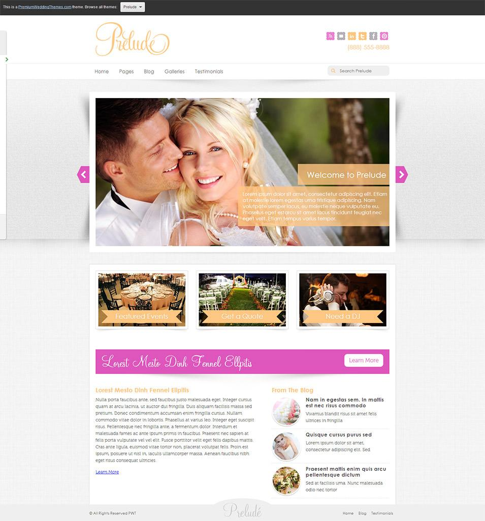 Free Wedding Websites Templates