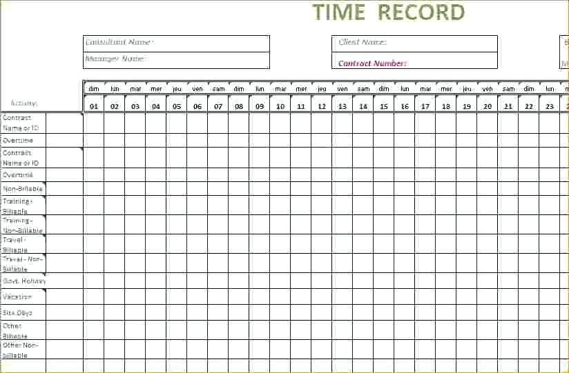 Free Weekly Timesheet Template Uk