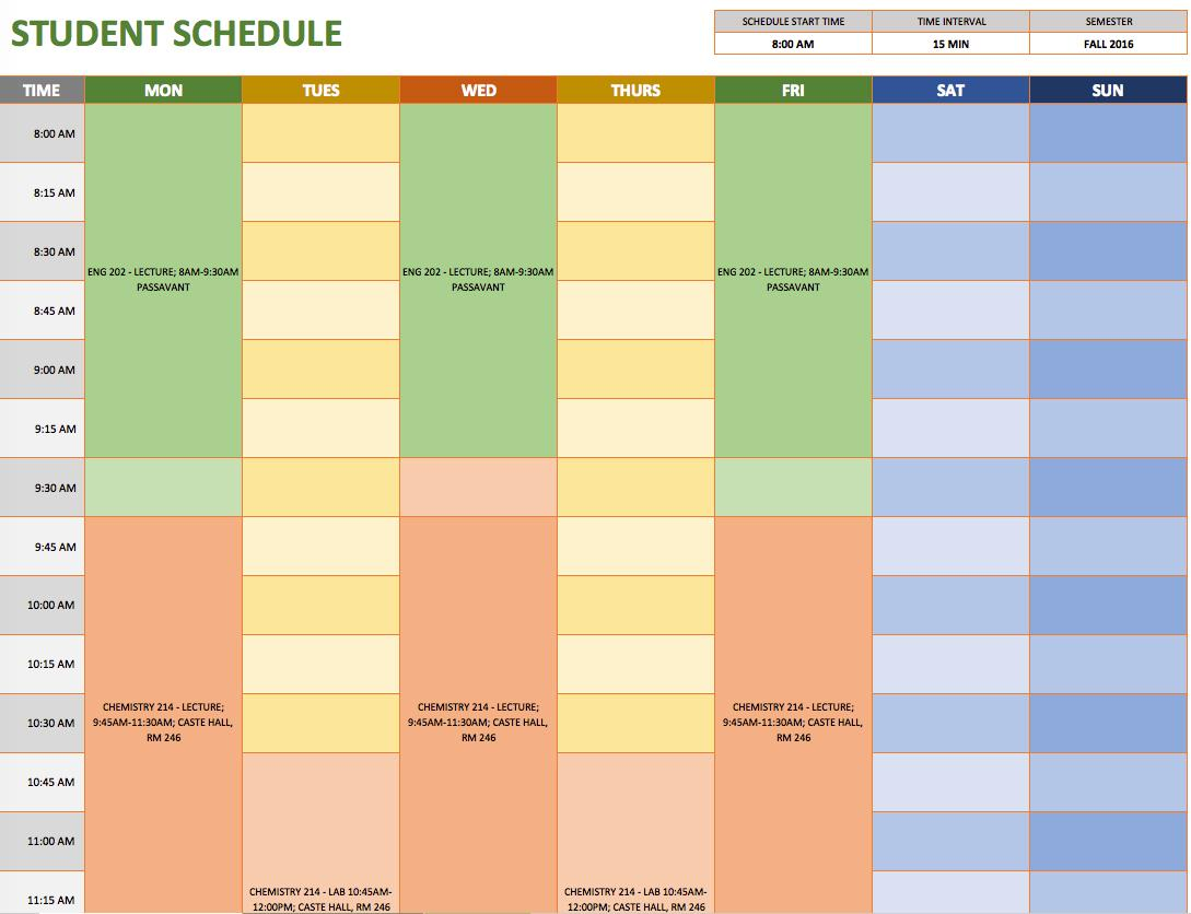 Free Weekly Work Schedule Template Excel