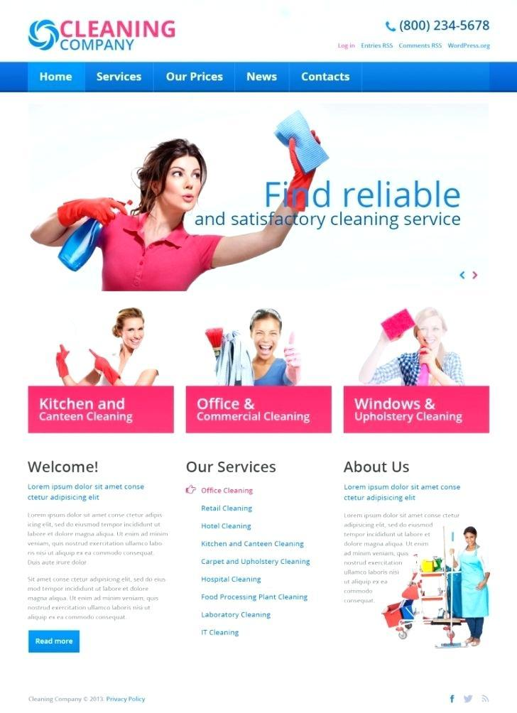 Free Window Cleaning Website Templates