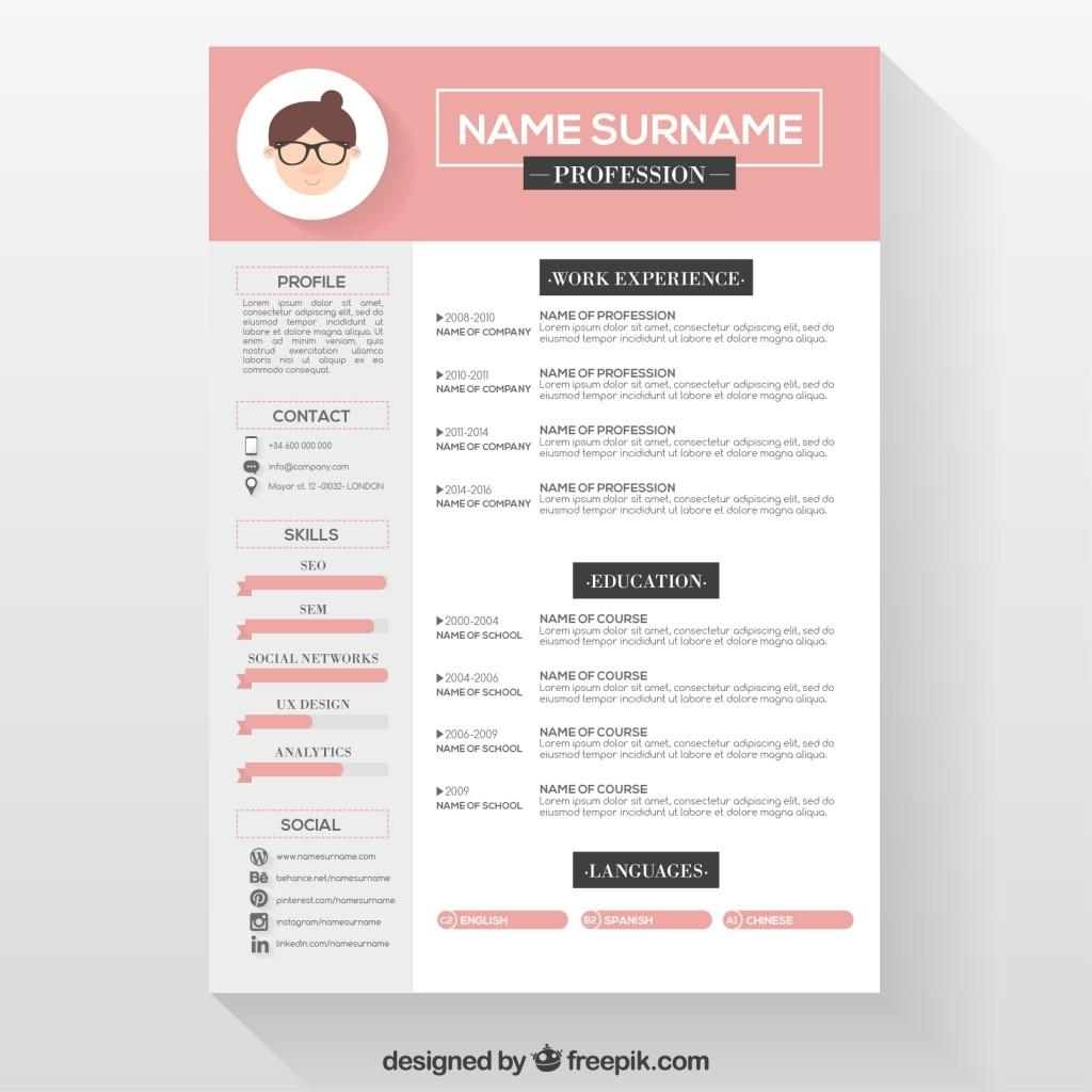 Free Word Resume Templates Creative