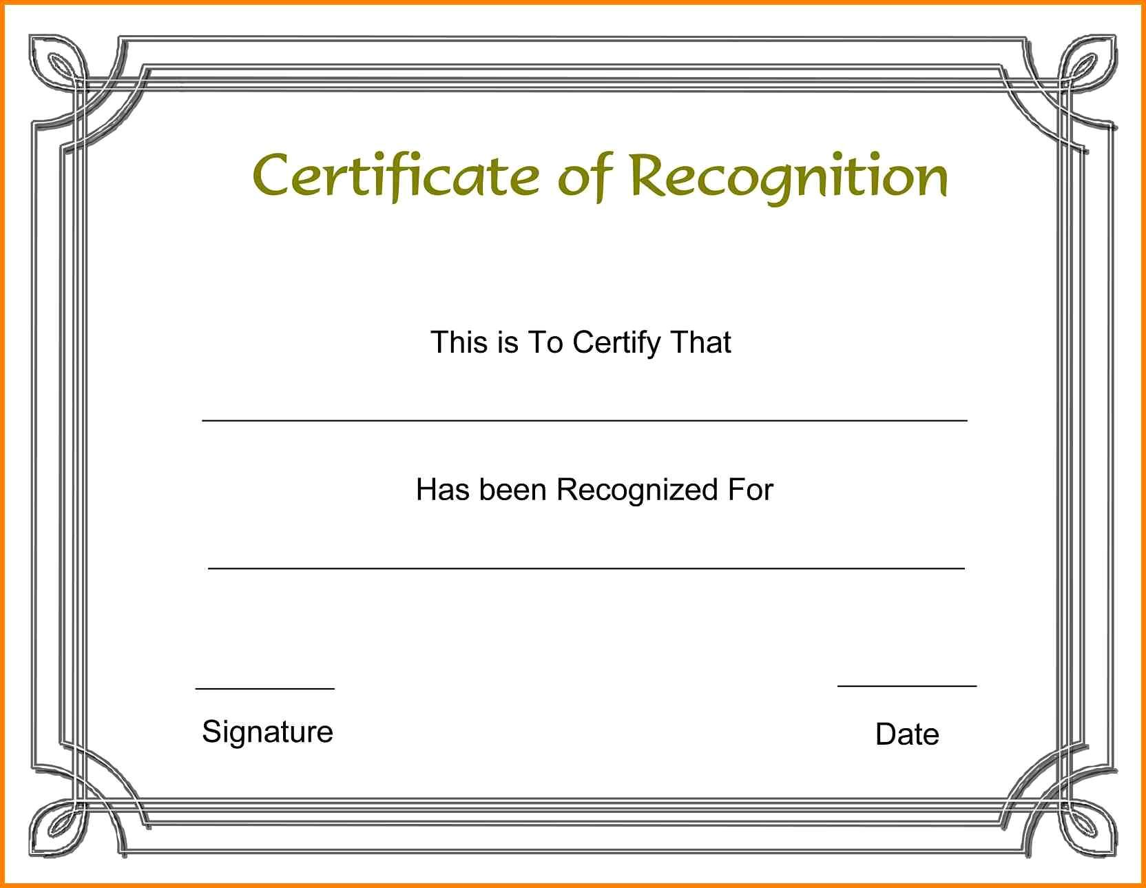 Free Word Templates For Certificates Of Appreciation