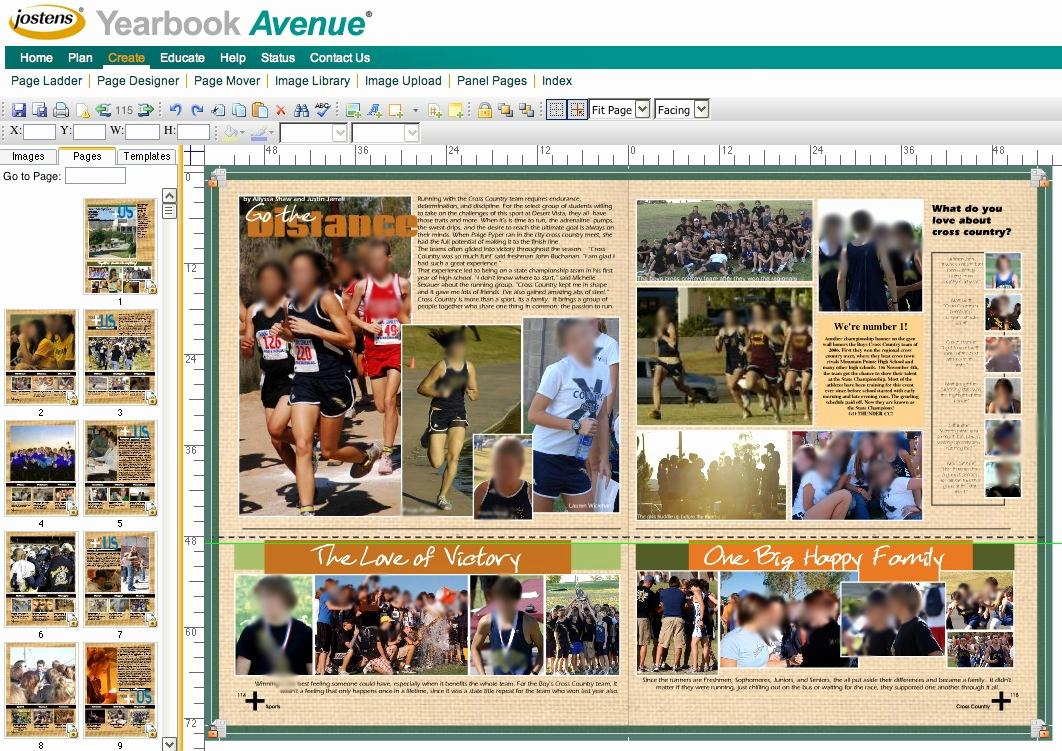 Free Yearbook Templates Layouts
