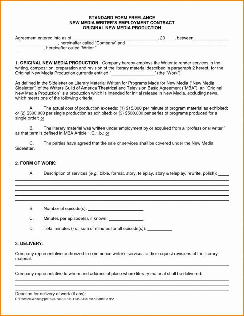 Freelance Contract Template Nz