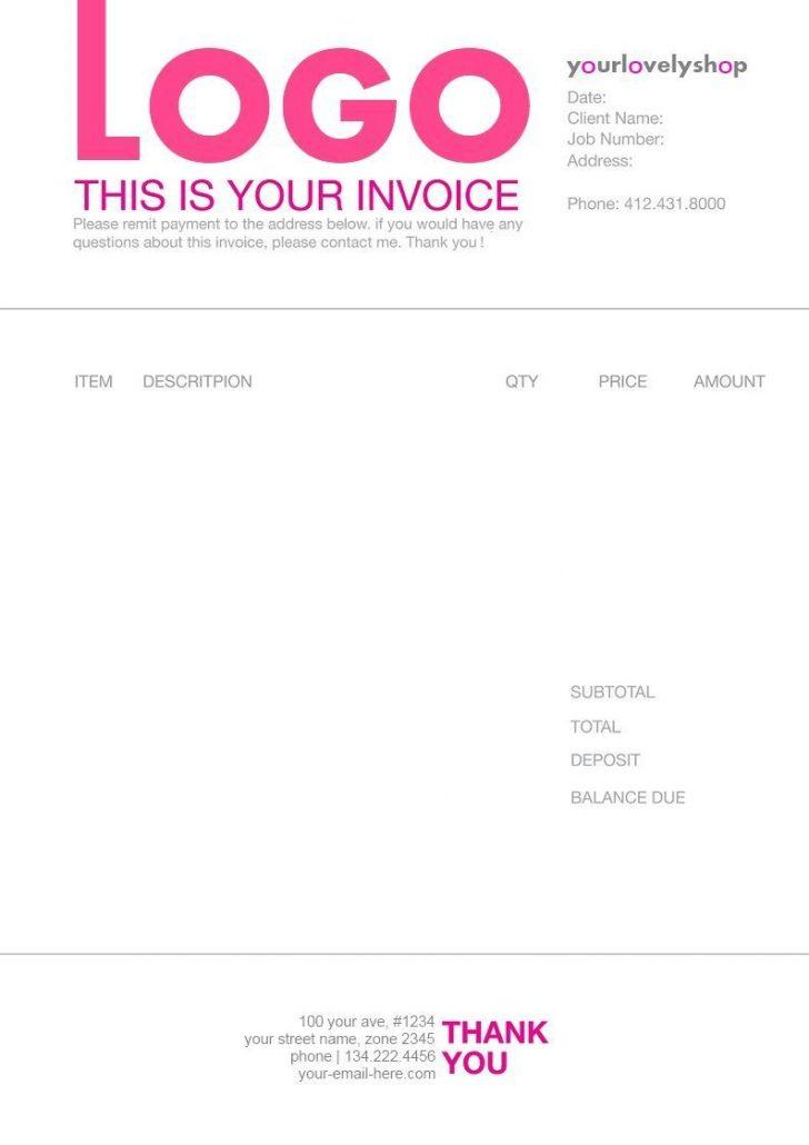 Freelance Design Invoice Excel Template