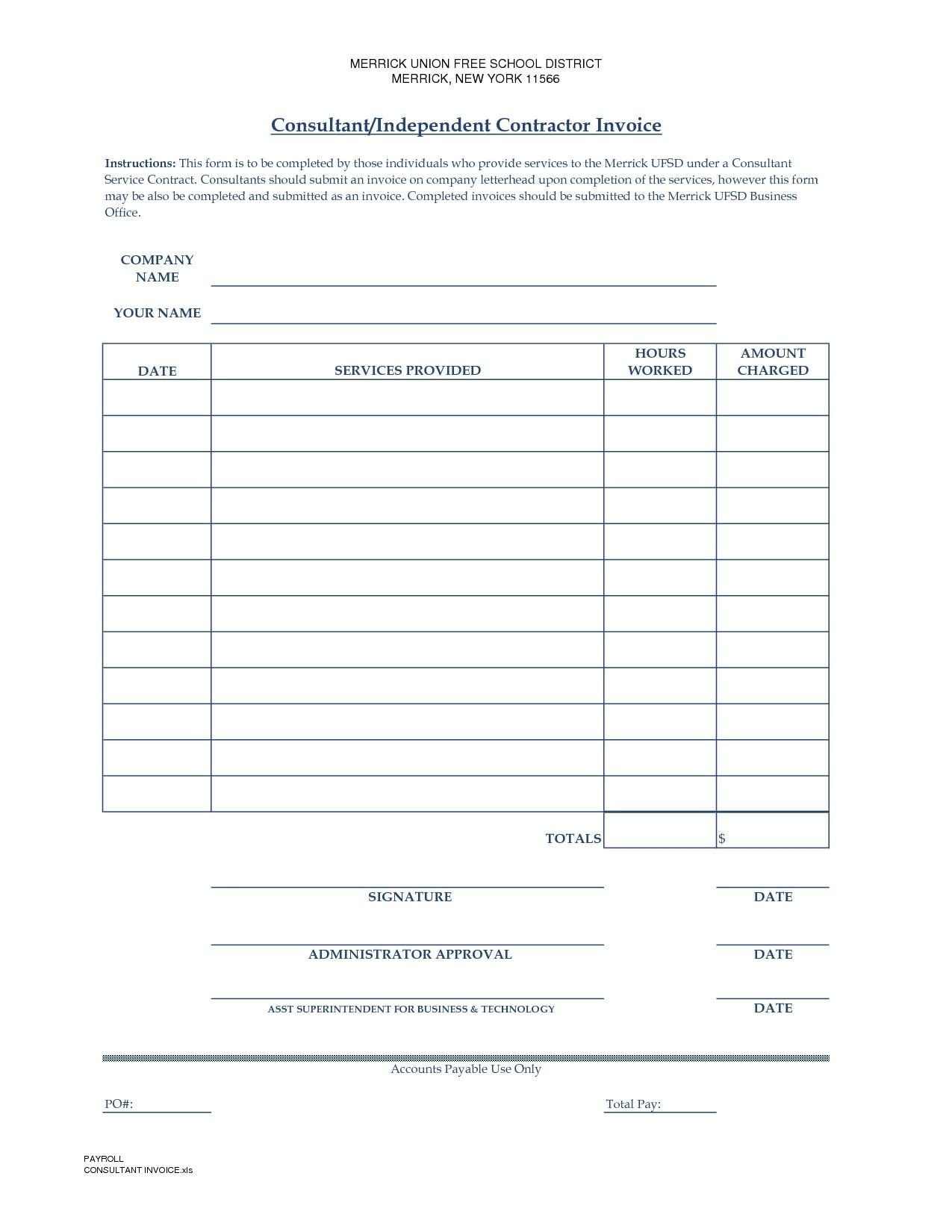 Freelance Invoice Template Ireland